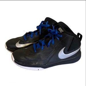 "Nike Black ""Team Hustle"" High Tops - Boy's Size 5"